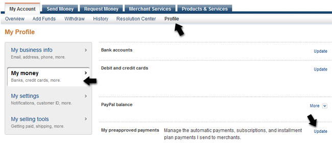 can i pay money into my paypal account